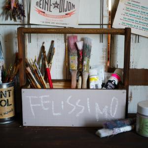 *【フェリシモDIY女子部ブログ連載】セリアのパーテーションボックスを使って収納ボックスをDIY*
