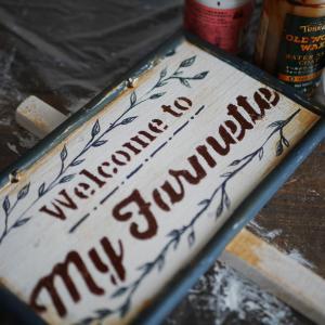 *セリアのプレートを使ってガーデンサインを簡単DIY*