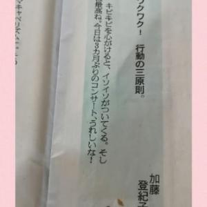 加藤登紀子のひらり一言