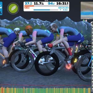 女子じゃないオッサンだけど、Tour de Zwift: Stage 2 Race(B)に出てみました(*´ω`*)