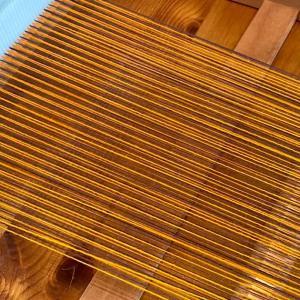 リジット機の経糸作業