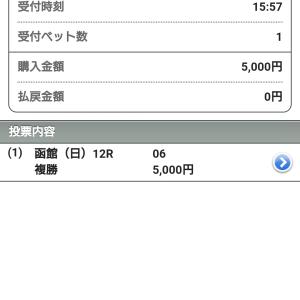 【競馬】大至急!土日の負債を函館最終ノーブルカリナンの複勝で取り返せ!→【結果】