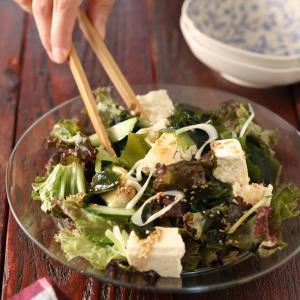 焼肉屋さんのチョレギ豆腐サラダ【#やる気がない日の晩ごはん #ヘルシー #さっぱり #タレが絶品 #食材の長持ち保存法 #副菜】