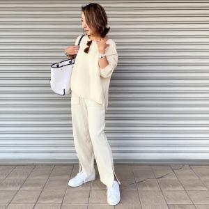 GUびっくり価格で購入したパンツでホワイトコーデ♡