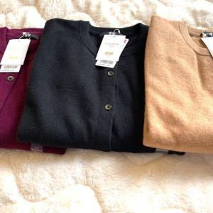 毎年必ず買い足すユニクロのカシミヤ♡今年は3色買い!