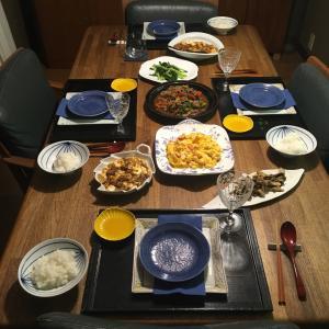 今日の夕飯は中華