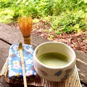 アウトドア抹茶【Outdoors Green tea】山と珈琲ではなく、森と薄茶♪ソロキャンプ?