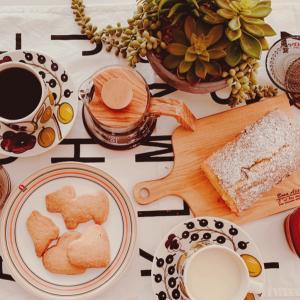 【おうちアウトドア】3歳児と作るおうちカフェレシピ♪ショートブレッド&抹茶チーズパウンドケーキ!