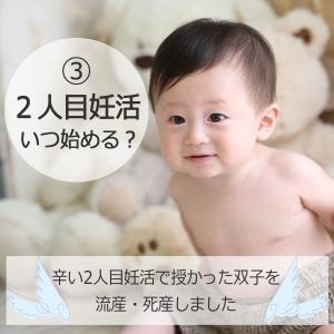 ③2人目妊活いつ始める?【辛い2人目妊活で授かった双子を流産・死産しました】