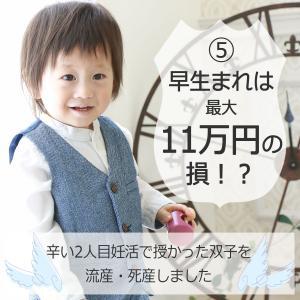 ⑤早生まれは最大11万円の損!?【辛い2人目妊活で授かった双子を流産・死産しました】
