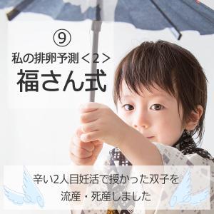 ⑨私の排卵予測<2>福さん式【辛い2人目妊活で授かった双子を流産・死産しました】