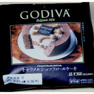 LAWSON♡Uchi Café×GODIVA キャラメルショコラロールケーキ(´︶`♡)