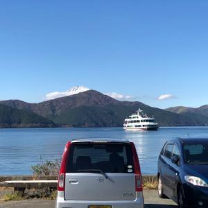 昨日の芦ノ湖・・・