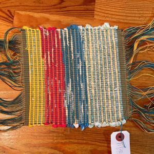 小5次男のさき織の作品、受け取りに行ってきました!