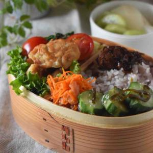 【レシピ】むね肉deマヨチキン#作り置き#漬け焼き#お弁当おかず …練習後のお弁当と朝ごはん。