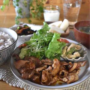【レシピ】にんにくマスタードポークソテー#簡単#時短#お弁当おかず#5分メイン …試合後の食事。