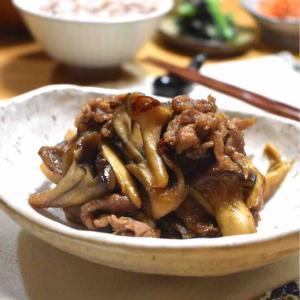 【豚肉ときのこの佃煮】#作り置き#常備菜#簡単#ご飯のお供#お弁当おかず#包丁不要
