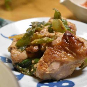 【鶏肉とねぎのごま味噌炒め】#漬け焼き#お弁当#簡単#時短