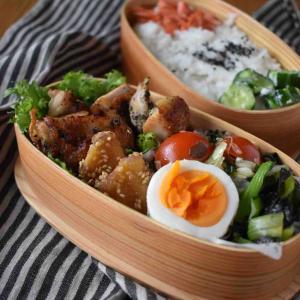 【バジルチキン】#漬け焼き#作り置き#冷凍作り置き#お弁当 …朝ごはんとお弁当。