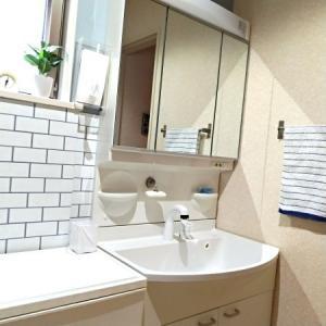 洗面台の撥水コーティングと掃除が楽なゴミ受け