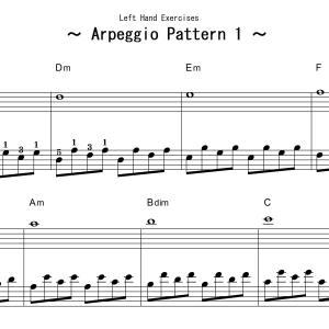 アルペジオパターンの楽譜と音源をアップしました!