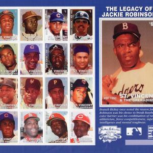1997 Saint Vincent and the Grenadines's stamp 『The Legacy of Jackie Robinson』