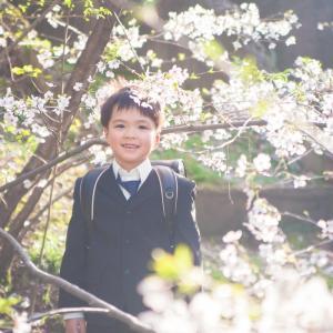 今日の写真「桜と男子」-出張撮影