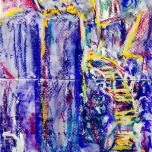 朝日記200223  ワルシャワ暮色 町田市市美展に出展です