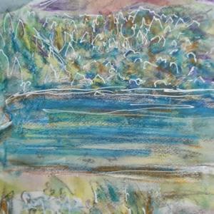 朝日記210726 音楽絵画no.157(アーカイヴ版)シューベルト歌曲を銀座ハート芸術サロンでうたう
