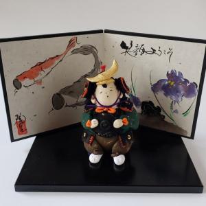 武者人形と鯉のぼりの屏風