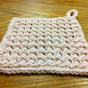 中長編みと引き抜き編みでできる、アクリルたわし編み図。一日一個捨て番外5,6