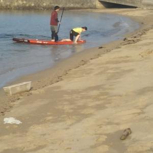 凪いだ日なら #サップボード もできる #大浜海岸 IN 洲本