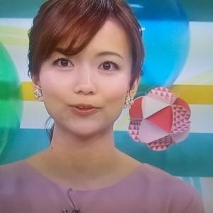 #斎藤真美 アナ パープルな衣装結構珍しい。 #おはようコール
