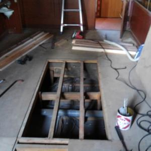 床のリフォームが完了