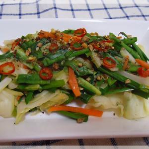 野菜のピリ辛黒酢みそ炒め