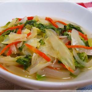 きゃべつとセロリの塩麹スープ