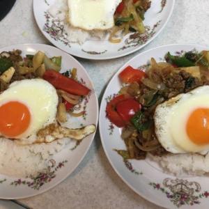 タイ料理の ガパオを作りました