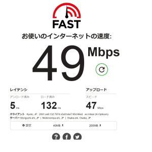 【今日のこと】§インターネット速度テスト。