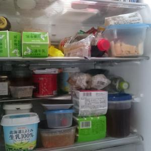 冷蔵庫を片付けた女。
