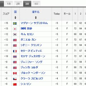 USLPGA  第二戦 畑岡奈紗選手はトップと2打差2位で最終日へ