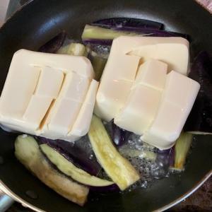 タオルも分離、共有は手洗いソープのみ、太らないフライパン一個で麻婆豆腐ナス丼