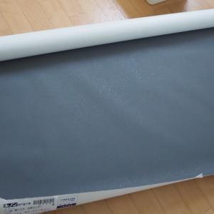 ▼【洗濯室DIY】チャコールグレー無地の壁紙貼り