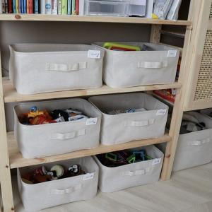 ▼我が家のおもちゃ収納 vol.3 心打たれた整理収納方法と無印良品ソフトボックス