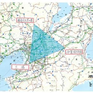 藤原不比等の墓と土塔と伊賀国分寺跡は、正三角形を描いている