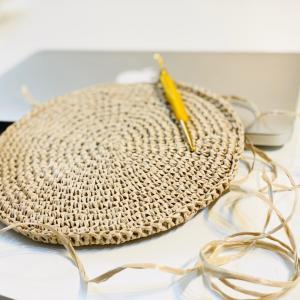 久しぶりの編み物でショルダーバッグ作ってみた