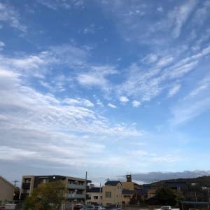 今日の空。