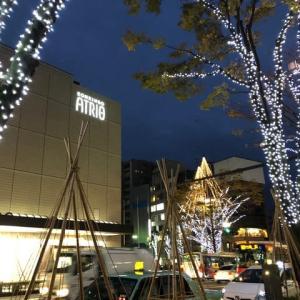 Xmasまでに、コロナが収まるといいね。金沢市香林坊。