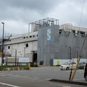 あっという間に、鉄塔(アンテナ)がなくなった。旧NHK金沢放送局。殿町(現大手町)。