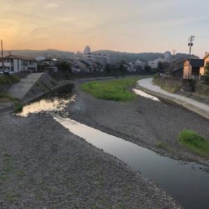 8月に入って、雨の日がない。渇水ではないけれど、川の水も少ない。金沢市昌永橋。