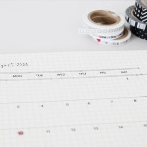 夏休み★予定を書き出してみました。